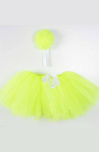 Elbise ve Abiye Modelleri Tütü Etek Bağlama Saç Bandı 308-01 Sarı