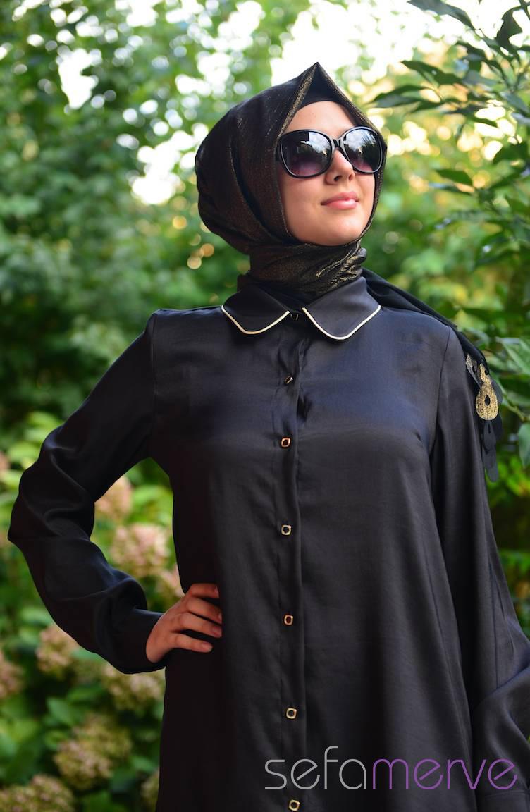 İndirim Günleri Pınar Akşam Tunik 2285-01 Siyah