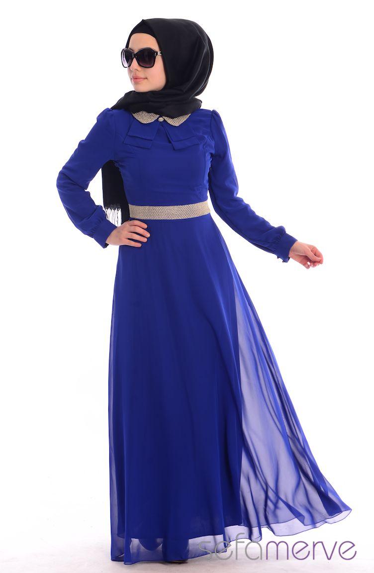 Tesettür Elbise Fy Collection Tesettür Elbise FY 52077-08 Saks