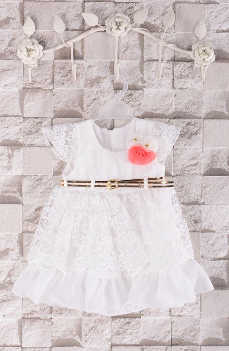 Elbise ve Abiye Modelleri Kız Elbise 0100-01 Ekru