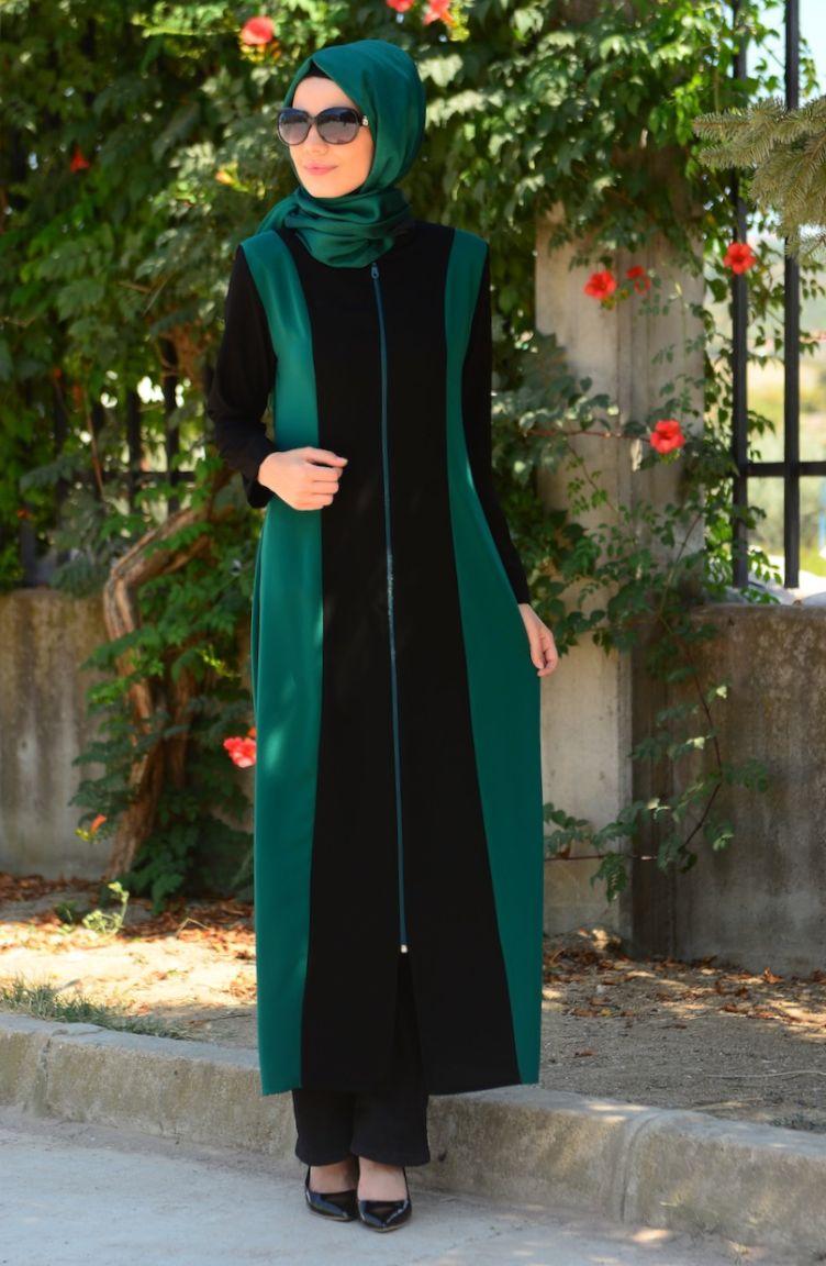 Sim Feraceler Sim Ferace Modelleri 6450-01 Siyah Yeşil