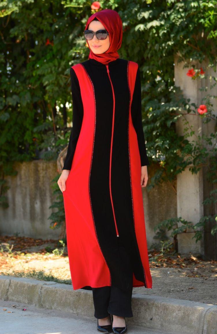 Sim Feraceler Sim Ferace Modelleri 6450D-01 Siyah Kırmızı