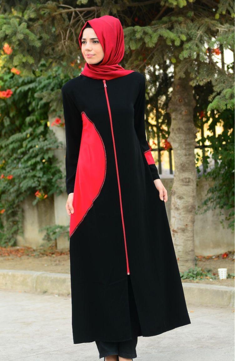 Sim Feraceler Sim Ferace Modelleri 6460-03 Siyah Kırmızı