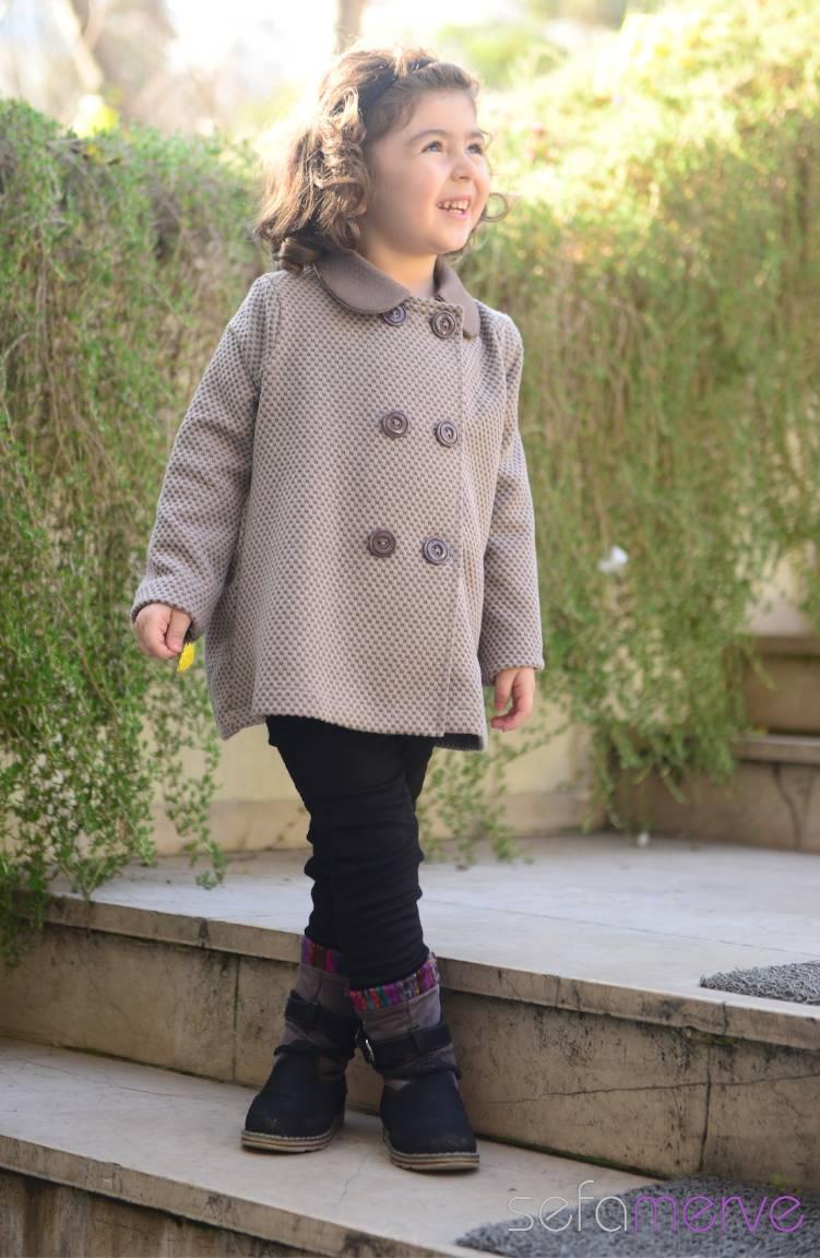 Sefamerve Çocuk Kıyafetleri Belemir Çocuk Kap Modelleri 7524-02 Vizon